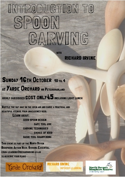 Spoon Carving Course with Richard Irvine on 16th October 2011