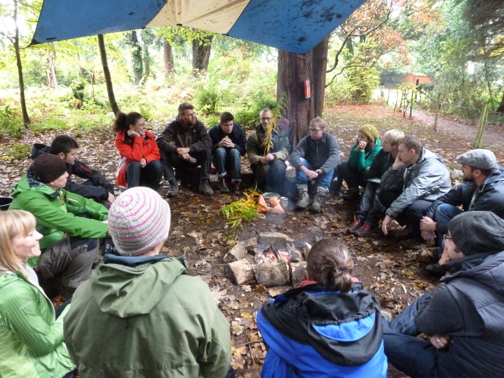 Charcoal workshop at EOE Derwent Water 2012